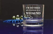 RETIREMENT Personalised engraved whiskey glass present gift/DAD GRANDAD FATHER49