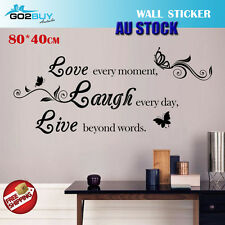Wall Stickers Removable Love Laugh Live Living Study Room Decal Picture Art