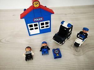 Duplo Sammlung 2672 Police Station Polizei Hauptquartier alt Figuren Komplett kg
