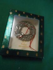 Collectible Bell Wallace Silversmith Wreath Ornament Bell.Free Postage Usa