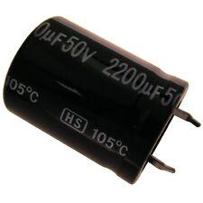Elko Condensatore JAMICON HS 50v 2200uf rm10 22x30mm 105 ° C snap-in 854284