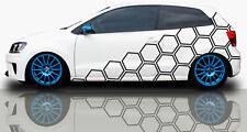 2x Pixel Cyber Seitenaufkleber Waben Dekor Autotattoo Auto Aufkleber Set #77