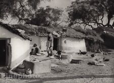 1928 Original INDIA Bundelkand Village Architecture Arab Photo Art By HURLIMANN