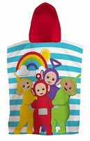 NEW TELETUBBIES HOODED PONCHO TOWEL - KIDS BOYS GIRLS BATHTIME HOLIDAY GIFT