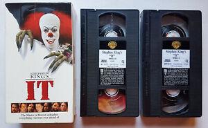 1990 Stephen King's IT HORROR MOVIE ORIGINAL VHS TAPE Box Set