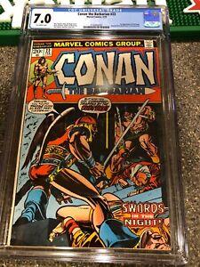 Conan 23 CGC 7.0 1st Appearance Red Sonja Bronze Barbarian F/VF Comic NO RESERVE