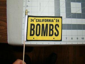 bombs flag 4x6 inches flag California bombs flag lowrider flag bomba flag