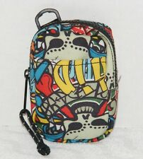 PAPERCHASE SMALL MULTI-COLOR ACCESSORIE CELL PHONE BAG With SKULL THEME GUC