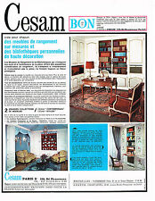 PUBLICITE ADVERTISING 094  1967  CESAM  bibliothéque  meubles de rangement