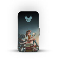 Card Slots Wallet Style Phone Case Cover Beauty Beast Disney Tattoo Punk gothic