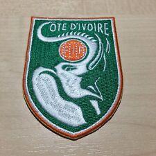Emblem Elfenbeinküste Logo Patch Badge Aufbügler Aufnäher Ivory Coast Africa