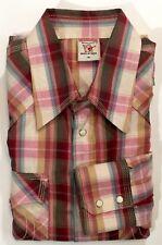 True Religion Mens Plaid Checks Long Sleeve Pearl Snap Shirt XL H5