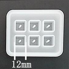 6er Silikonform Würfel 12mm zum giessen für Schmuck Resin Harz Dekoration uvm.