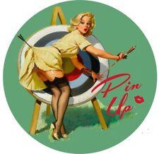 PIN Up Girl CALDO RAT ROD Adesivi Decalcomanie Auto d'epoca classica vintage Sexy Verde