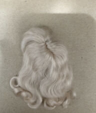 MOHAIR doll wig, Ash Blonde Mignonette Size Mohair Doll Wig. Adjusts. Part,Bangs