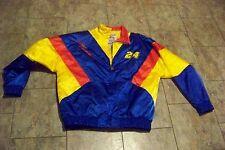 mens nutmeg jeff gordon #24 multi colored zip front coat jacket size large
