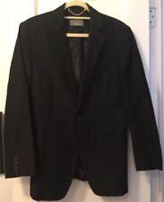 Zara Man Black Blazer Sports Coat Pick-Stitching Sz 36 Vent still stitched