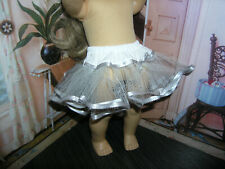 "Gray Nylon Crinoline Net Slip Petticoat 18"" Doll clothes fits American Girl"
