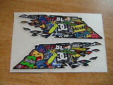 """Sticker Bomb - """"ripped""""  Flag style stickers - 300mm decals x2 LARGE"""