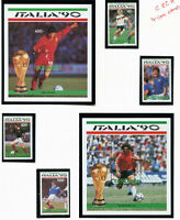 TANZANIA 1990 ITALY FOOTBALL WORLD CUP BOTH MINIATURE SHEET & SET OF ALL 4 MNH