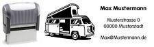 VW Bus t2-CAMPER-motivo-Automatik - TIMBRO CON TESTO desiderio