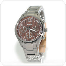 FOSSIL WOMENS FLIGHT PLATED CHRONOGRAPH STAINLESS STEEL WATCH CH2822