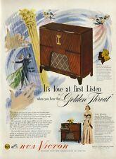 1948 RCA Victorla 8V91 AC Jane Wyman Johnny Belinda harp dance party PRINT AD