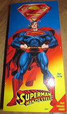 "Superman Man of Steel 12"" Figure w/Cloth Cape(Kenner, 1996) K-Mart Excl. MIB"