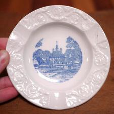 "Vintage Wedgwood Etruria Barlaston Flow Blue Colonial Williamsburg Ashtray 4.25"""