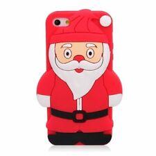 Rouge Père Noël/Père Noël Silicone Étui Pour iPhone 4 et 4 S
