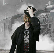 gothic steampunk MASCHERA D'ORO Steam i Gears CYBER ROBOT SIMIL METALLO