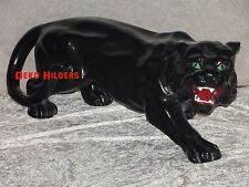 Panther Jaguar Figur Tierfigur Gartenfigur  Katze Skulptur Garten Groß Schwarz