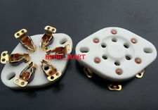 1Pc Gold plated 6pin ceramic valve tube socket for Vt57 / Vt58/ We310/ 2A5