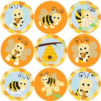 144 Bees Buzzing 30 mm Reward Stickers for School Teachers, Parents, Nursery