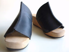 TRIPPEN Germany - Women's Wooden Clogs Slides SAILO f waw-black EU41 US9.5 UK7.5