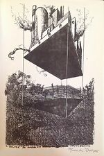 Karl ZOLPER (1935) Lithographie Signée 1976 Abstrait Surréalisme Industriel Art