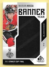 16/17 SPGU Banner Year #MH Marian Hossa '13 Stanley Cup Banner Relic Card