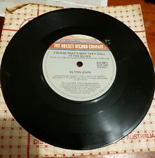 Elton John- I Guess That's Why They Call It -  45RPM Vinyl Record - FREE POST