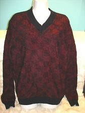 MEN'S MAURO GRIFONI Sweaters Red/Black Size 48 Italy