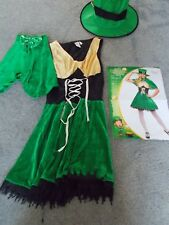 "Mesdames ""Lucky Leprechaun"" Fancy Dress Outfit Taille S 10-12 NEUF"