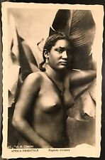 Real Photo RPPC ~ Abyssinia Ethiopia ~ Africa Orientale ~ Beautiful Nude Woman