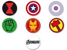 Lot Pack Badge Button Ø25mm Symbole Logo The Avengers Marvel Super Heros