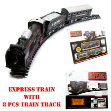 Express Decent TRAIN RAILWAY TOY Set 13 pcs Track Battery Operated Vehicle Game