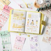 Retro Scrapbooking Album Decor Diary Label Handkerchief Sticker Paper Stickers