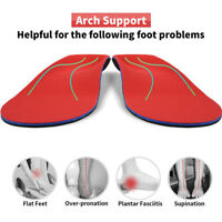 Unisex Orthotic Arch Support Shoe Insert/Insoles for Flat Feet Plantar Fasciitis