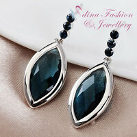 18K White Gold Filled Made With Swarovski Element Clear Diamond Shaped Earrings