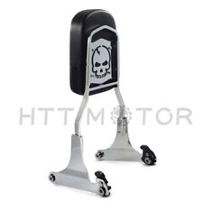 Chrome Detachable Sissy Bar Backrest For Harley Softail FLSTN Fat Boy FLSTF