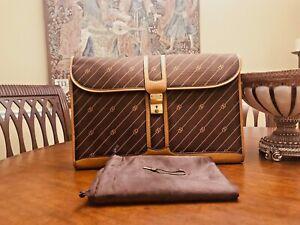Authentic GUCCI of MILANO  Canvas / Leather Briefcase / Portfolio - ITALIA