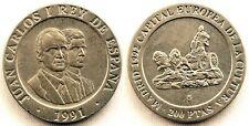 Spain-Juan carlos I. 200 Pesetas 1991. Madrid. SC/UNC. Niquel 10,5 g.