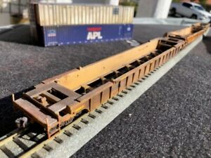 1:87 WALTERS NSC DTTX 620630 3 CAR 53' WELL CARS PROFESSIONAL WEATHERED SAFETY S